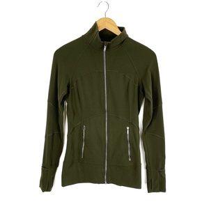Lululemon Contour Jacket Dark Olive Green NULU